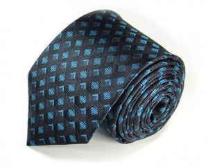 Black Woven Silk Tie by Focus Ties (The Stewart - Premium High Quality Silk Business / Wedding Necktie)