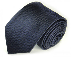 Blue Woven Silk Tie by Focus Ties (The Vesuvius - Premium High Quality Silk Business / Wedding Necktie)