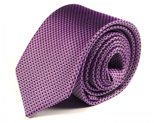 Pink Woven Silk Tie by Focus Ties (The Antisana - Premium High Quality Silk Business / Wedding Necktie)