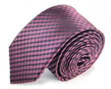 Load image into Gallery viewer, Pink Woven Silk Tie by Focus Ties (The Kailash - Premium High Quality Silk Business / Wedding Necktie)