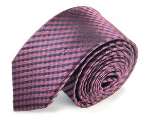 Pink Woven Silk Tie by Focus Ties (The Kailash - Premium High Quality Silk Business / Wedding Necktie)