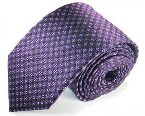 Purple Woven Silk Tie by Focus Ties (The Oymyakon - Premium High Quality Silk Business / Wedding Necktie)