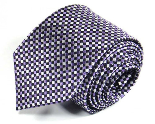 Pink Woven Silk Tie by Focus Ties (The Congo - Premium High Quality Silk Business / Wedding Necktie)