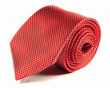Load image into Gallery viewer, Red Woven Silk Tie by Focus Ties (The Fantale - Premium High Quality Silk Business / Wedding Necktie)