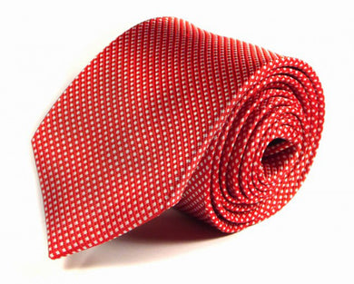 Red Woven Silk Tie by Focus Ties (The Fantale - Premium High Quality Silk Business / Wedding Necktie)