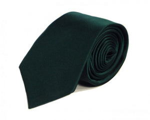 Green Solid Silk Tie by Focus Ties (The Pantera - Premium High Quality Silk Business / Wedding Necktie)
