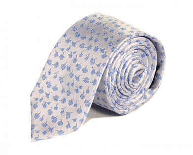 Blue Woven Silk Tie by Focus Ties (The Azure - Premium High Quality Silk Business / Wedding Necktie)