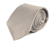 Load image into Gallery viewer, Silver Dotted Silk Tie by Focus Ties (The Carrera - Premium High Quality Silk Business / Wedding Necktie)