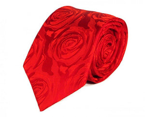 Red Woven Silk Tie by Focus Ties (The Fighter - Premium High Quality Silk Business / Wedding Necktie)