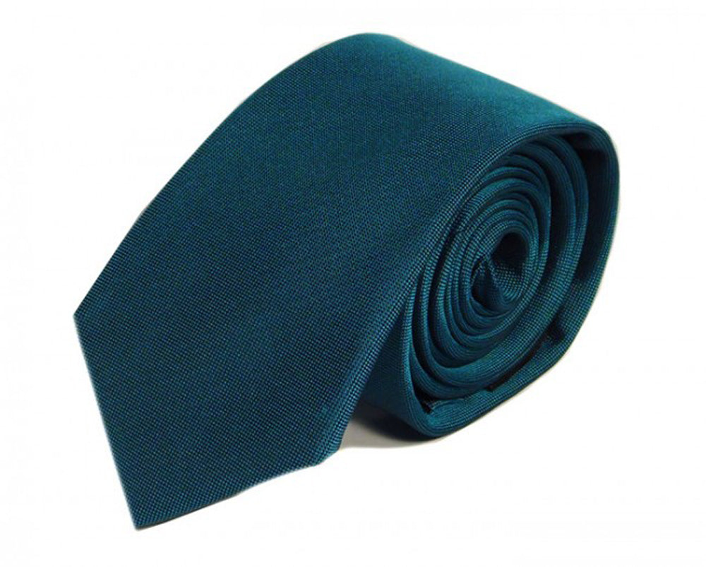 Blue Solid Silk Tie by Focus Ties (The Scaglietti - Premium High Quality Silk Business / Wedding Necktie)
