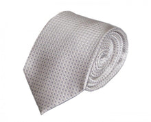 Load image into Gallery viewer, White Dotted Silk Tie by Focus Ties (The Mangusta - Premium High Quality Silk Business / Wedding Necktie)