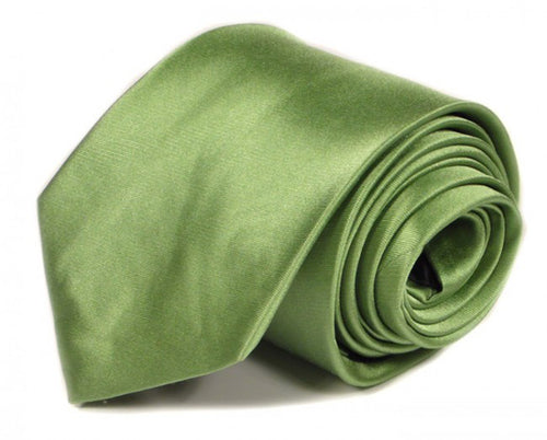 Green Solid Silk Tie by Focus Ties (The Vantage - Premium High Quality Silk Business / Wedding Necktie)