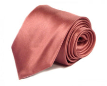 Load image into Gallery viewer, Pink Solid Silk Tie by Focus Ties (The Scuderia - Premium High Quality Silk Business / Wedding Necktie)