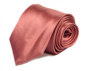 Pink Solid Silk Tie by Focus Ties (The Scuderia - Premium High Quality Silk Business / Wedding Necktie)