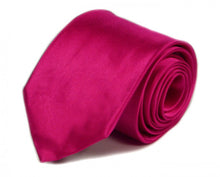 Load image into Gallery viewer, Pink Solid Silk Tie by Focus Ties (The Vanquish - Premium High Quality Silk Business / Wedding Necktie)