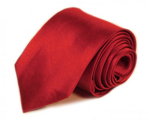 Red Solid Silk Tie by Focus Ties (The Scorpion - Premium High Quality Silk Business / Wedding Necktie)