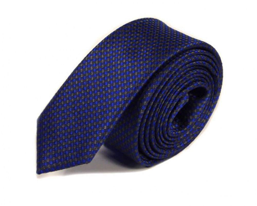 Blue Woven Silk Tie by Focus Ties (The Continental - Premium High Quality Silk Business / Wedding Necktie)