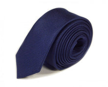 Load image into Gallery viewer, Blue Woven Silk Tie by Focus Ties (The Testarossa - Premium High Quality Silk Business / Wedding Necktie)