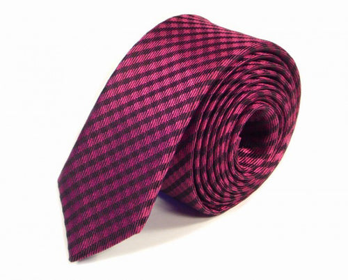 Pink Woven Silk Tie by Focus Ties (The Healey - Premium High Quality Silk Business / Wedding Necktie)