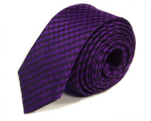 Load image into Gallery viewer, Purple Woven Silk Tie by Focus Ties (The Hornet - Premium High Quality Silk Business / Wedding Necktie)
