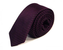 Load image into Gallery viewer, Purple Woven Silk Tie by Focus Ties (The Tuscan - Premium High Quality Silk Business / Wedding Necktie)
