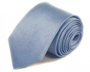 Blue Solid Silk Tie by Focus Ties (The Firebird - Premium High Quality Silk Business / Wedding Necktie)