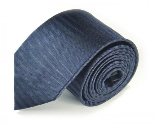 Blue Striped Silk Tie by Focus Ties (The Adriatic - Premium High Quality Silk Business / Wedding Necktie)
