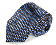 Load image into Gallery viewer, Blue Woven Silk Tie by Focus Ties (The Prost - Premium High Quality Silk Business / Wedding Necktie)