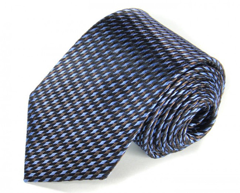 Blue Woven Silk Tie by Focus Ties (The Prost - Premium High Quality Silk Business / Wedding Necktie)