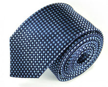 Load image into Gallery viewer, Blue Dotted Silk Tie by Focus Ties (The Eos - Premium High Quality Silk Business / Wedding Necktie)