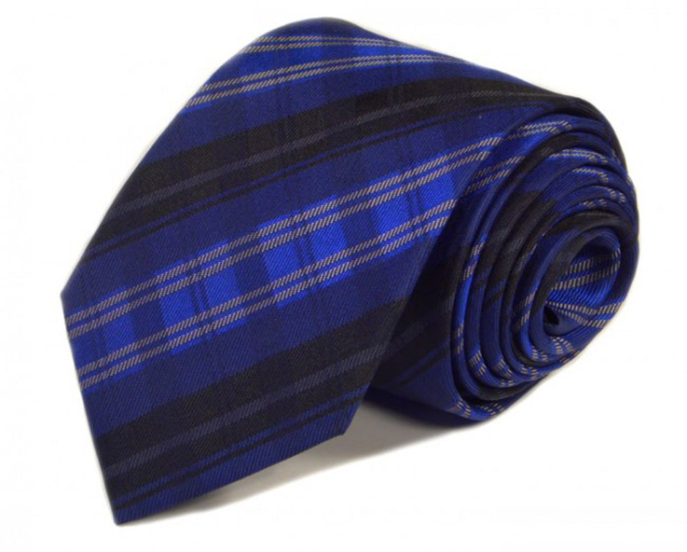 Blue Woven Silk Tie by Focus Ties (The Union - Premium High Quality Silk Business / Wedding Necktie)