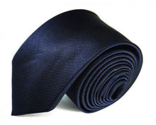 Load image into Gallery viewer, Blue Solid, Woven Silk Tie by Focus Ties (The Helios - Premium High Quality Silk Business / Wedding Necktie)