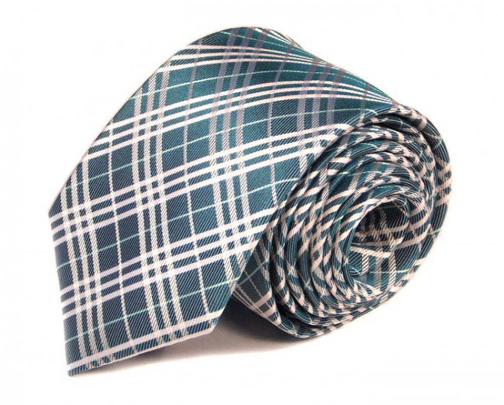 Blue Woven Silk Tie by Focus Ties (The Enzo - Premium High Quality Silk Business / Wedding Necktie)