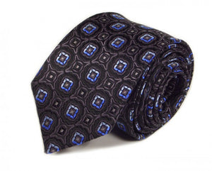 Black Woven Silk Tie by Focus Ties (The Pechora - Premium High Quality Silk Business / Wedding Necktie)