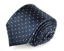 Load image into Gallery viewer, Blue Dotted Silk Tie by Focus Ties (The Clark - Premium High Quality Silk Business / Wedding Necktie)