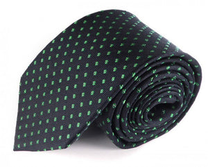 Blue Dotted Silk Tie by Focus Ties (The Amaro - Premium High Quality Silk Business / Wedding Necktie)