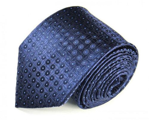 Blue Dotted Silk Tie by Focus Ties (The Senna - Premium High Quality Silk Business / Wedding Necktie)