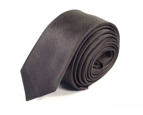 Black Woven Silk Tie by Focus Ties (The Zeus - Premium High Quality Silk Business / Wedding Necktie)
