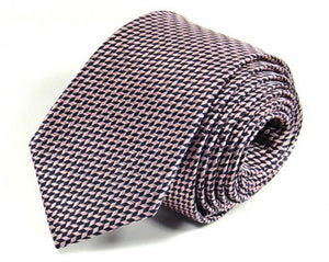 Pink Woven Silk Tie by Focus Ties (The Jannu - Premium High Quality Silk Business / Wedding Necktie)