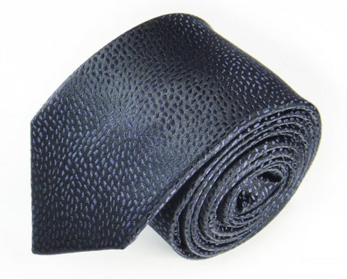 Black Woven Silk Tie by Focus Ties (The Bering - Premium High Quality Silk Business / Wedding Necktie)