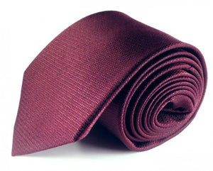 Red Solid, Woven Silk Tie by Focus Ties (The Mansell - Premium High Quality Silk Business / Wedding Necktie)