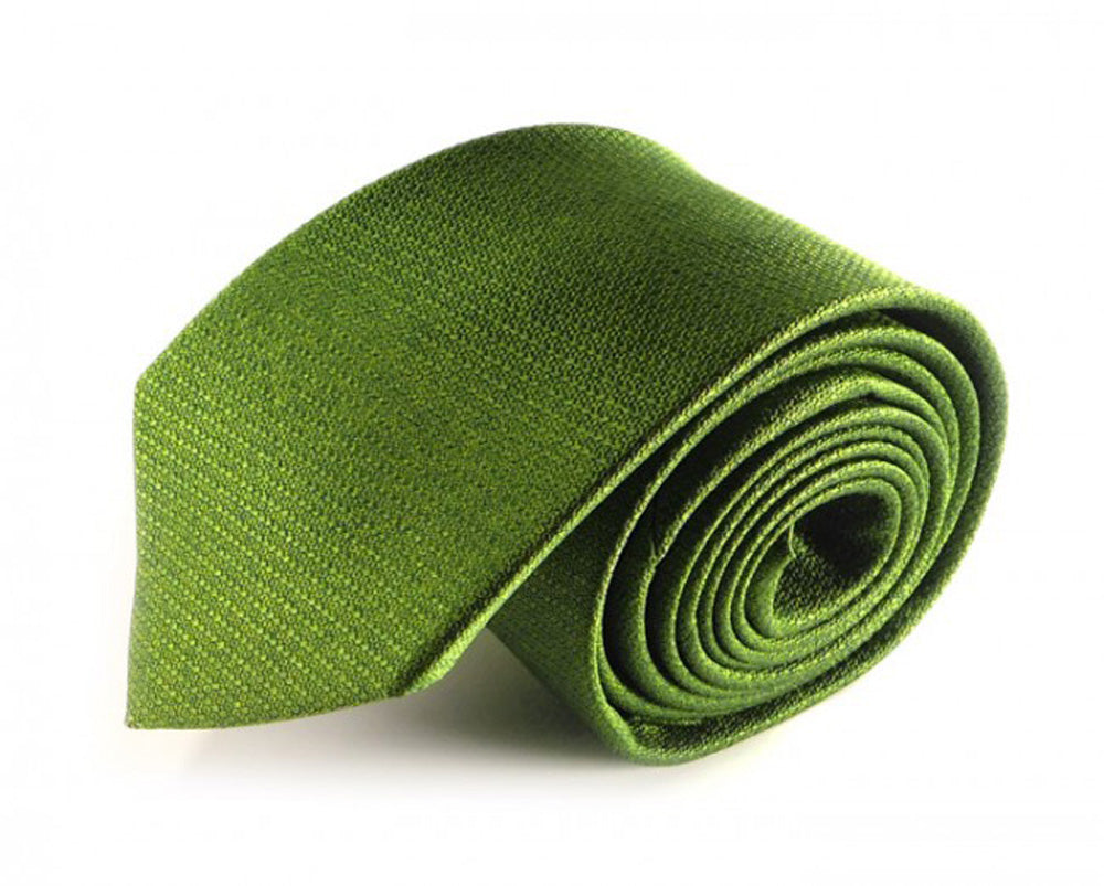Green Solid, Woven Silk Tie by Focus Ties (The Sierra - Premium High Quality Silk Business / Wedding Necktie)