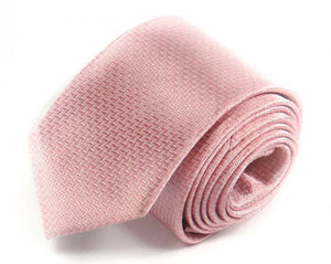 Pink Woven Silk Tie by Focus Ties (The Pegasus - Premium High Quality Silk Business / Wedding Necktie)