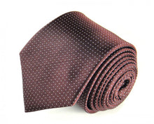 Load image into Gallery viewer, Red Dotted, Woven Silk Tie by Focus Ties (The Hercules - Premium High Quality Silk Business / Wedding Necktie)