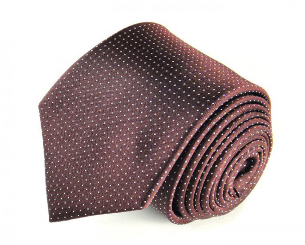 Red Dotted, Woven Silk Tie by Focus Ties (The Hercules - Premium High Quality Silk Business / Wedding Necktie)