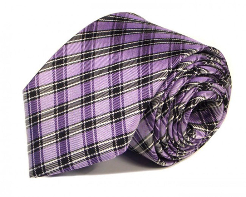 Pink Woven Silk Tie by Focus Ties (The Aventador - Premium High Quality Silk Business / Wedding Necktie)