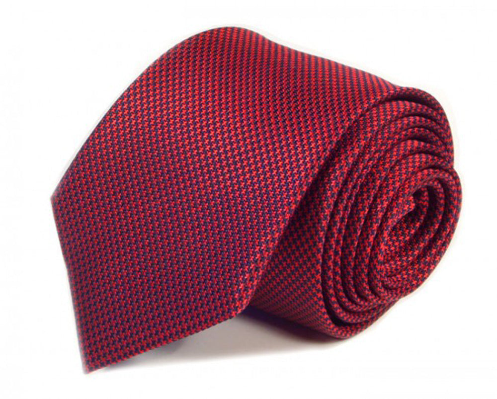 Red Woven Silk Tie by Focus Ties (The Pagani - Premium High Quality Silk Business / Wedding Necktie)