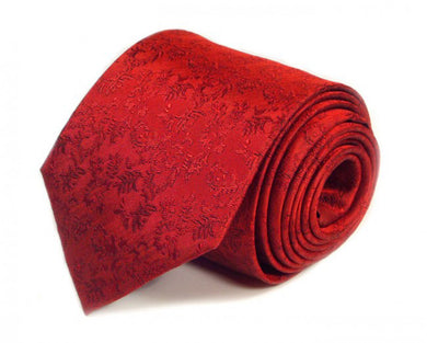 Red Paisley Silk Tie by Focus Ties (The Cobra - Premium High Quality Silk Business / Wedding Necktie)