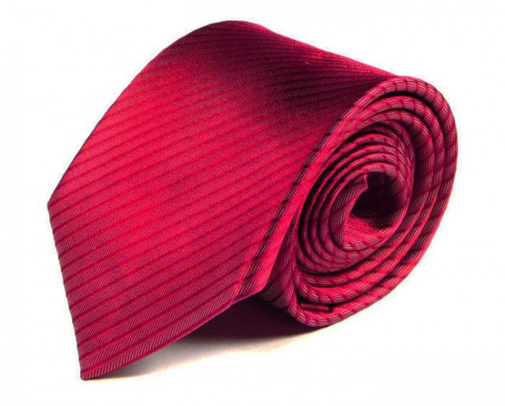 Pink Striped, Woven Silk Tie by Focus Ties (The Alid - Premium High Quality Silk Business / Wedding Necktie)