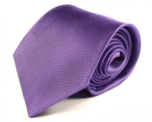 Purple Solid, Woven Silk Tie by Focus Ties (The Agua - Premium High Quality Silk Business / Wedding Necktie)